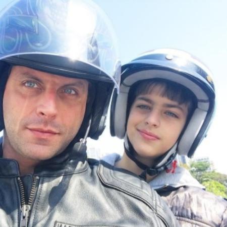 Henri Castelli e o filho, Lucas - Reprodução/Instagram/henricastelli