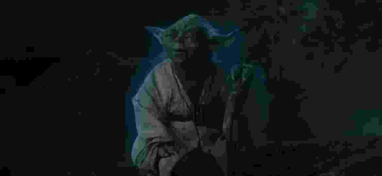 """Mestre Yoda em cena do filme """"Star Wars: Os Últimos Jedi"""" - Divulgação"""