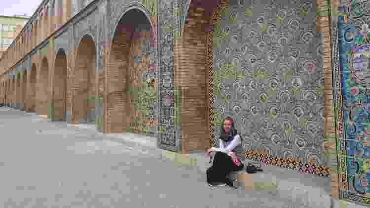 O Palácio do Golestão, em Teerã, foi um dos destinos preferidos de Cassia no Irã - Cassian Dian/Arquivo Pessoal - Cassian Dian/Arquivo Pessoal