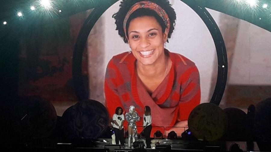 Katy Perry homenageia Marielle Franco em show no Rio - Reprodução/Twitter