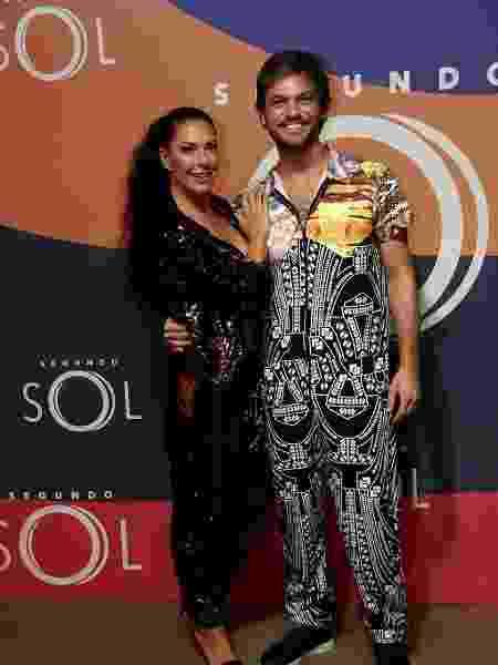 """Emílio Dantas e Fabiula Nascimento durante a festa da novela """"Segundo Sol""""  - Marcos Ferreira/Brazil News"""