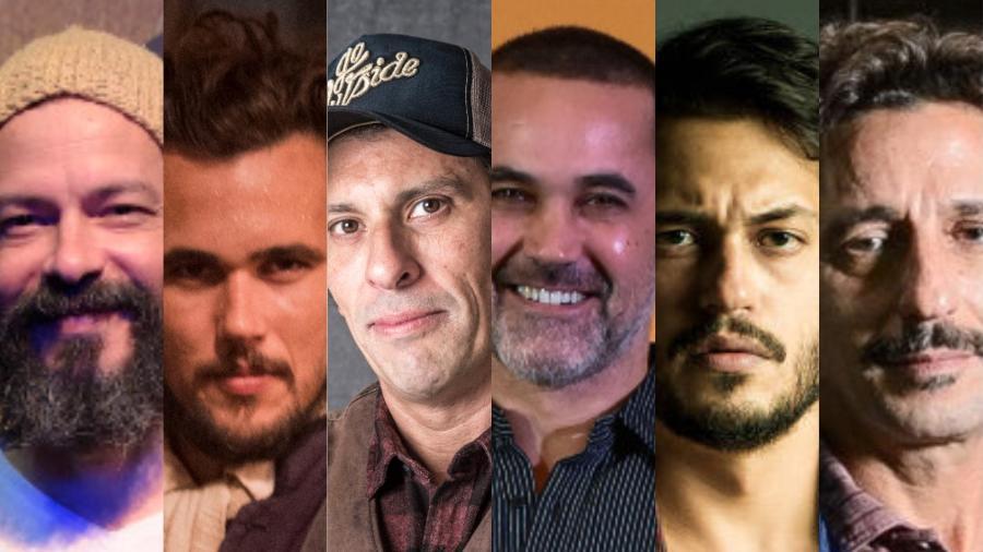 Seis atores que foram vilões em  outras emissoras e a Globo foi buscar para fazer personagens malvados nas produções da casa - Montagem  UOL