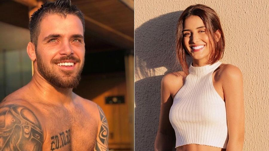 Raí Amaral e a atriz Letícia Almeida, que ele diz ter conhecido pelo Instagram - Fotomontagem/Reprodução/Instagram