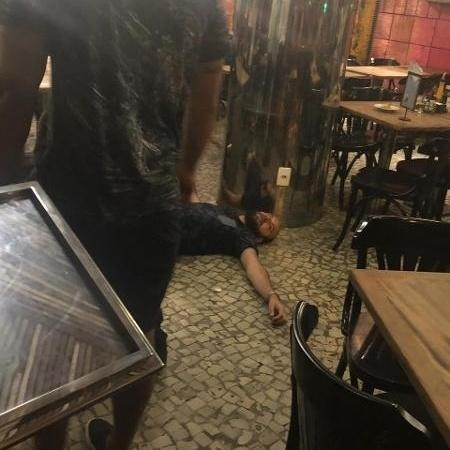 Ricardo Elias Mota de Oliveira apanhou após ser acusado de tentativa de estupro - Reprodução/WhatsApp