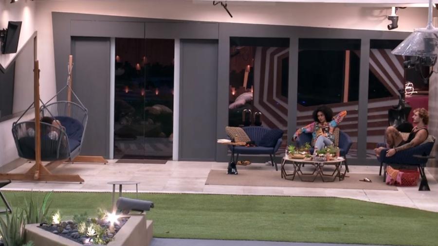 Danrley, Gabriela e Alan conversam sobre as provas da semana - Reprodução/GloboPlay