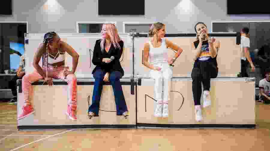 As Spice Girls reunidas para ensaio da turnê - Reprodução/Twitter