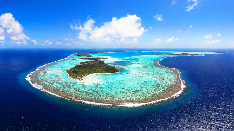 Bora Bora, na Polinésia Francesa, no Oceano Pacífico  - Divulgação