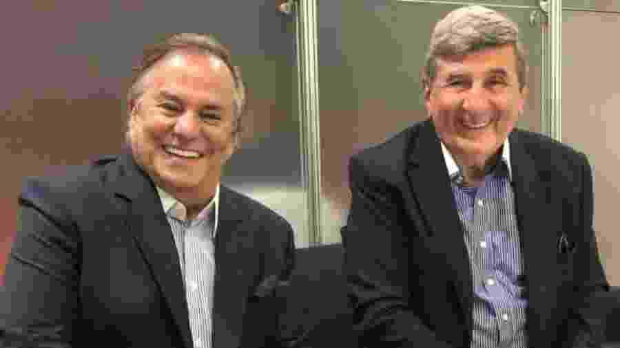 Ronnie Von e o agora seu empresário, Manoel Poladian - Divulgação