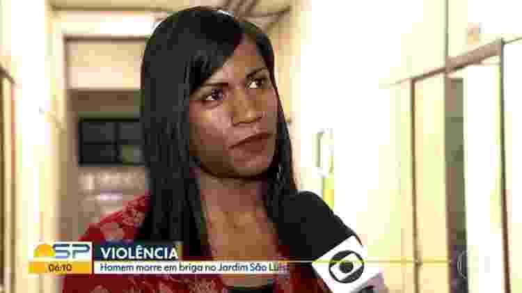 A estudante Lorena Vicente, de 23 anos, em entrevista concedida em 2017 - Reprodução/TV Globo
