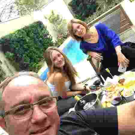 Duda Reis e os pais, Luiz Fernando e Simone Barreiros - Reprodução/Instagram