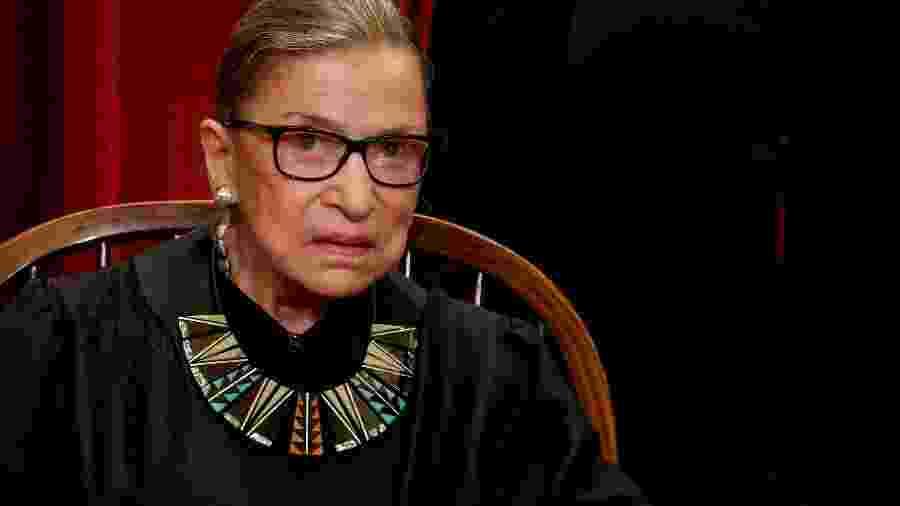 A juíza da Suprema Corte americana Ruth Bader Ginsburg, que morreu em 18 de setembro - Jonathan Ernst/REUTERS