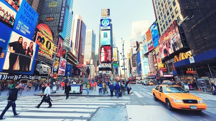 Times Square, em Nova York, Estados Unidos - Getty Images/iStockphoto - Getty Images/iStockphoto