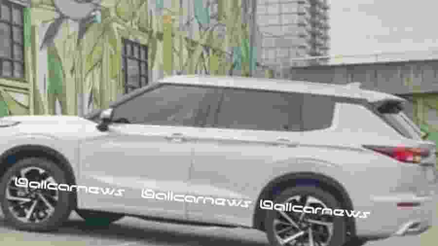Vazamento do Mitsubishi Outlander 2022  - Reprodução