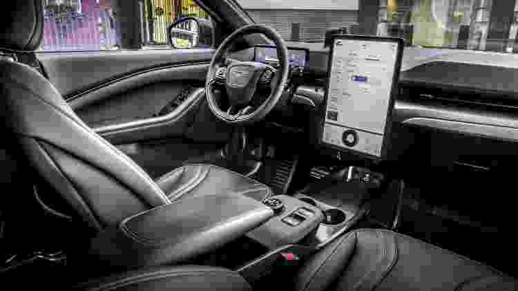 Mustang Mach-E interior - Divulgação - Divulgação