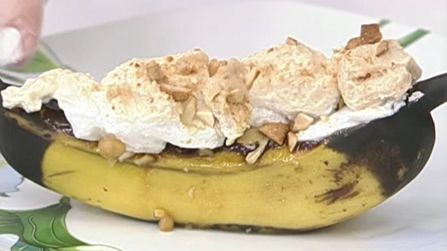 Banana recheada feita por Ana Maria Braga - Reprodução/TV Globo