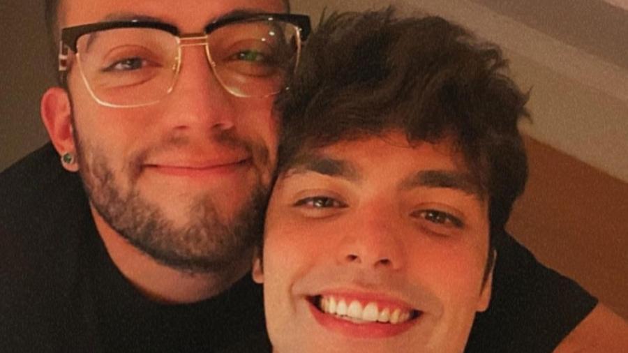 Lucas Rangel e o namorado, Lucas Bley - Reprodução/Instagram