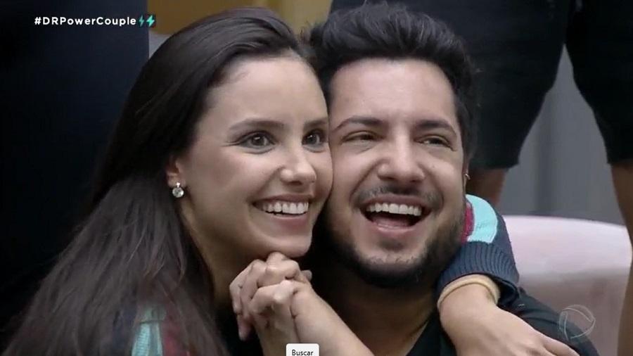 Power Couple: Geórgia e Thiago Bertoldo ganham prova de casais - Reprodução/RecordTV