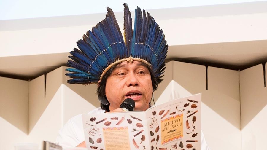 Daniel Munduruku na Feira do Livro de Frankfurt, em 2013 - Johan Visbeek/Wikimedia Commons