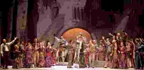 Ensaio da ópera Dom Quixote, de Jules Massenet, no Theatro São Pedro, em São Paulo - Heloisa Bortz/Divulgação
