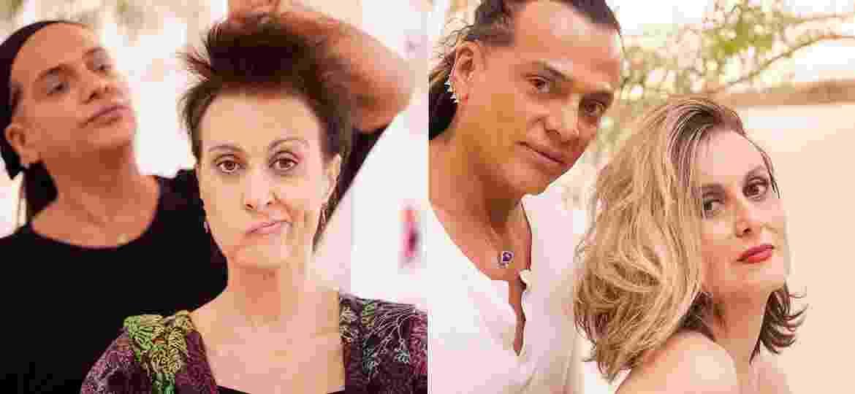 Márcia Cabrita antes e depois de mudar o visual e aplicar megahair loiro - Montagem/Guilherme Mesquita/Divulgação