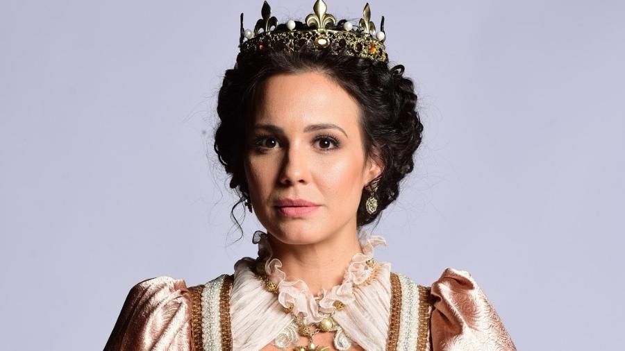 """Juliana Knust interpreta rainha na nova novela da Record, """"Belaventura""""; trama estreou em 2º lugar ontem - Blad Meneghel/ Record TV"""