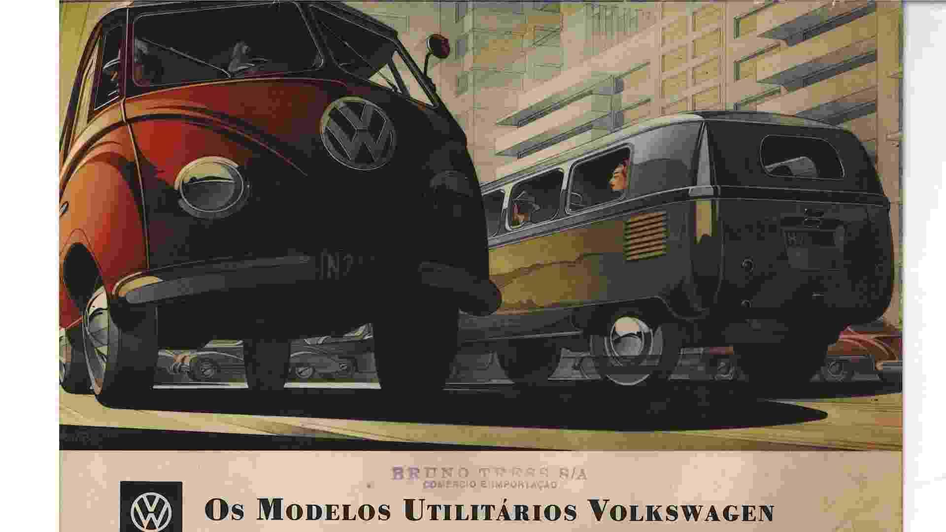 Anúncio Volkswagen Kombi 1950 - Reprodução