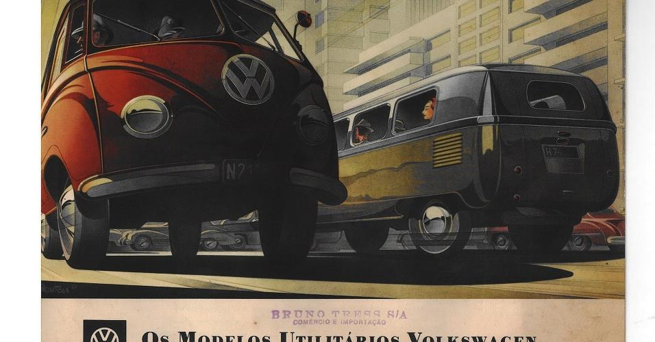 Anúncio Volkswagen Kombi 1950