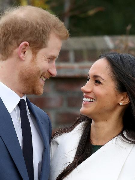 Príncipe Harry e Meghan Markle anunciam seu noivado nos jardins do palácio de Kensington - Getty Images