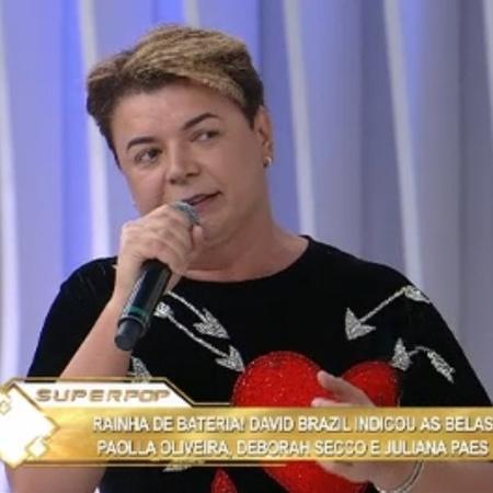 """David Brazil no """"Superpop"""" - Reprodução/RedeTV!"""