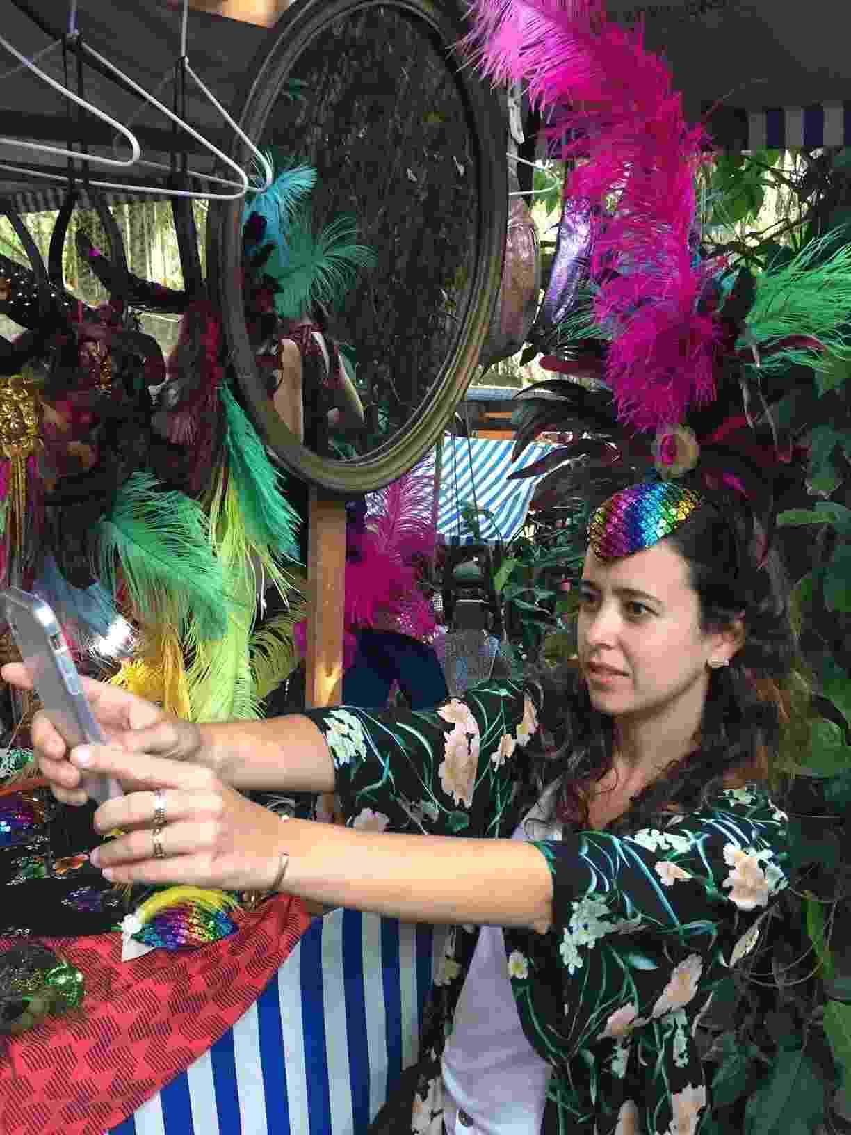 Feira de Carnaval Rio selfie - Giovani Lettiere/UOL