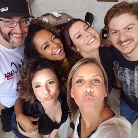 Felipe Chammas, Aretha Oliveira, Fernanda Souza, Rafael Pongelupi, Francis Helena e Mariane Oliva - Reprodução/Instagram
