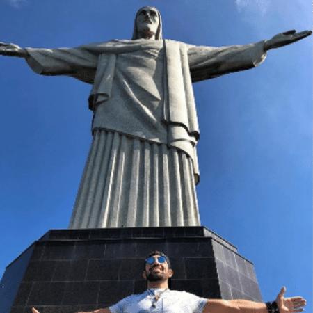 Ex-BBB Kaysar no Cristo Redentor - Reprodução/Instagram