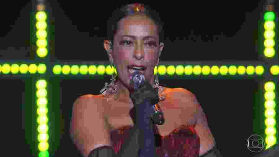 """Samantha Schmutz canta """"Havana"""", de Camila Cabello, no programa """"PopStar"""" - Reprodução/TV Globo"""