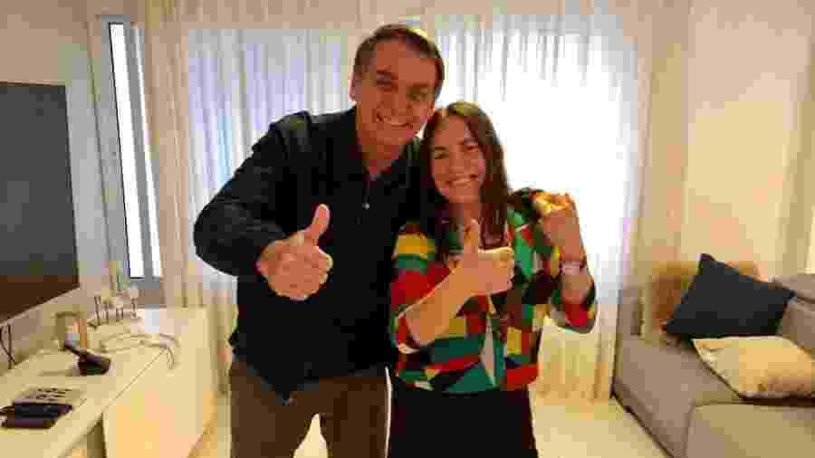 Regina Duarte e Jair Bolsonaro - Reprodução/Twitter