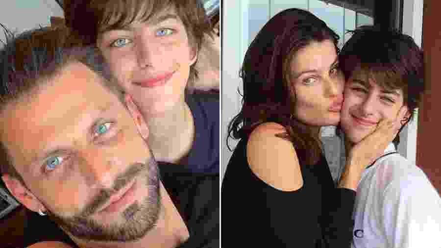 Henri Castelli e Isabeli Fontana com o filho, Lucas - Reprodução/Instagram