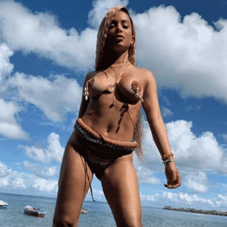 Anitta grava novo clipe na Bahia - Reprodução/Instagram