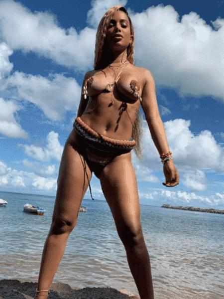 Anitta grava novo clipe na Bahia - Reprodução/Instagram - Reprodução/Instagram