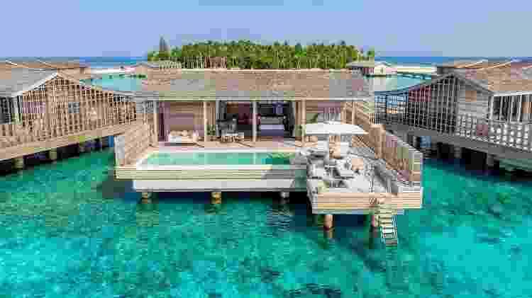Vista de um dos quartos do resort Kudadoo Maldives  - Divulgação