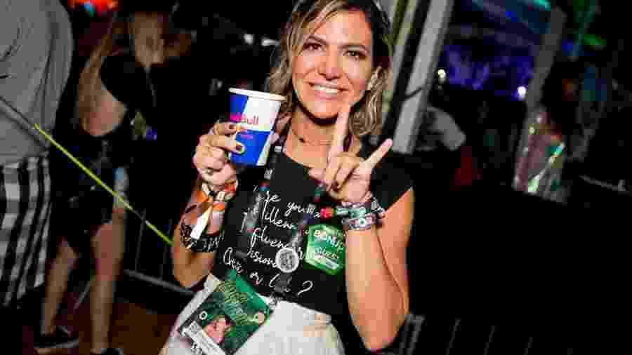 A empresária Carol Sampaio volta para mais um Carnaval com o Nosso Camarote, um dos mais populares da Sapucaí - Wanderson Monteiro