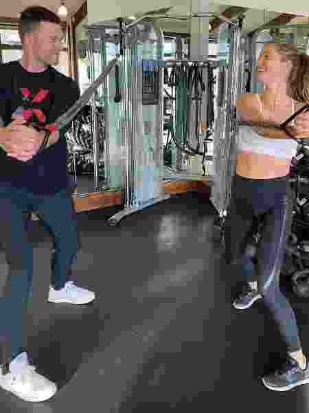 Tom Brady e Gisele malhando juntos - REPRODUÇÃO/INSTAGRAM