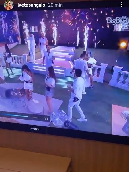 BBB 21: Ivete comemora estreia de música na primeira festa do reality - Colaboração/Globoplay