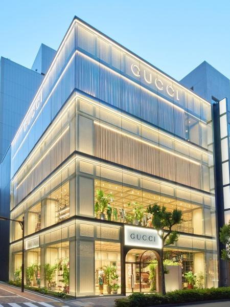 Gucci em Tóquio: design atualizado - Reprodução Instagram