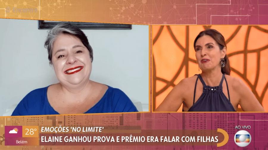 """Fátima Bernardes e Elaine, campeã do """"No Limite 1"""", se emocionaram juntas - Reprodução / TV Globo"""