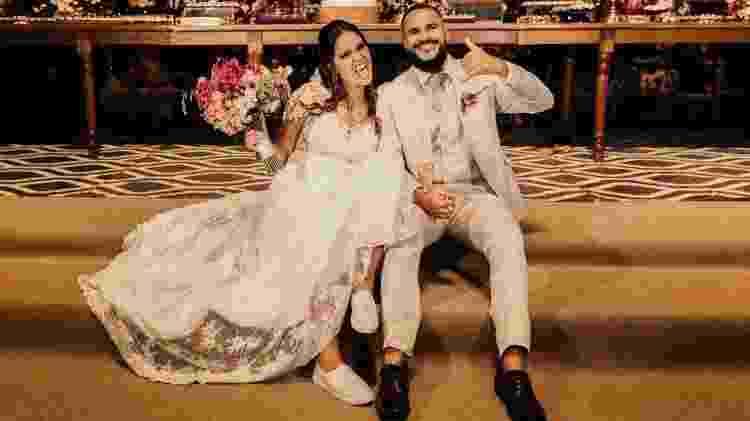 Brenda Castro e o marido, Pedro Souza - Arquivo pessoal - Arquivo pessoal