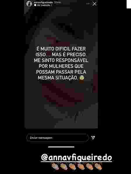 Modelo Anna Figueiredo relata caso de agressão e ganha apoio de Neymar - Reprodução/Instagram - Reprodução/Instagram