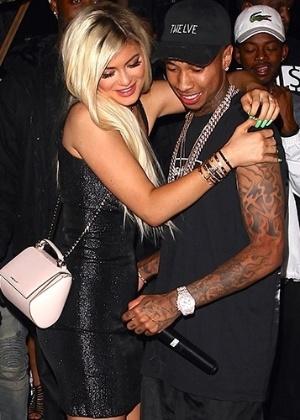 O rapper Tyga e a namorada Kylie Jenner - AKM-GSI