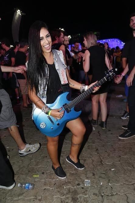 24.set.2015 - Ex-BBB Amanda no 4° dia de Rock in Rio