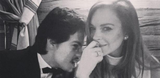 Lindsay Lohan e o noivo, o russo Egor Tarabasov - Reprodução/Instagram/lindsaylohan
