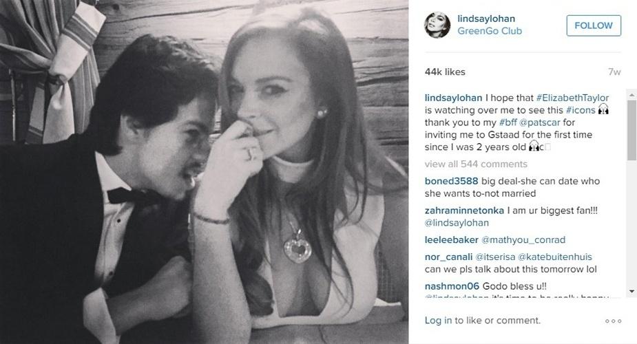 fev.2016 - Lindsay Lohan e o namorado, o russo Egor Tarabasov