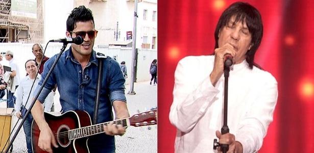 O cantor Fabiano Martins (à esquerda) e seu pai, o sertanejo Marciano - Reprodução/Facebook/Fabiano Martins